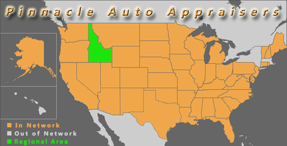 map idaho pinnacle auto appraiser appraisal diminished value